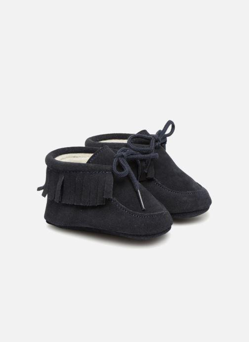 Hjemmesko Bout'Chou Chaussures à franges Blå detaljeret billede af skoene