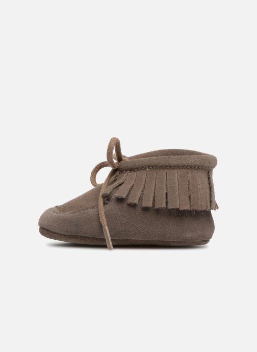 Hausschuhe Bout'Chou Chaussures à franges braun ansicht von vorne