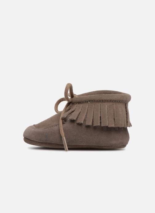 Pantofole Bout'Chou Chaussures à franges Marrone immagine frontale