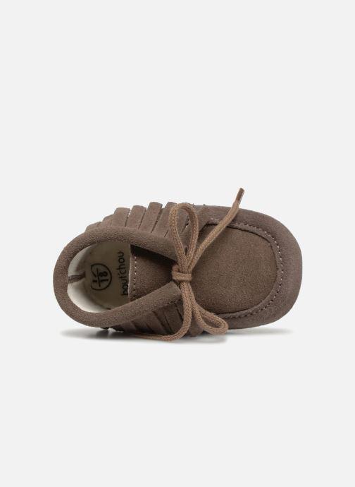 Chaussons Bout'Chou Chaussures à franges Marron vue gauche