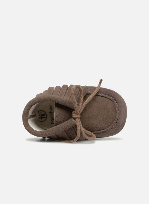 Hausschuhe Bout'Chou Chaussures à franges braun ansicht von links