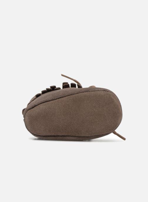 Chaussons Bout'Chou Chaussures à franges Marron vue haut