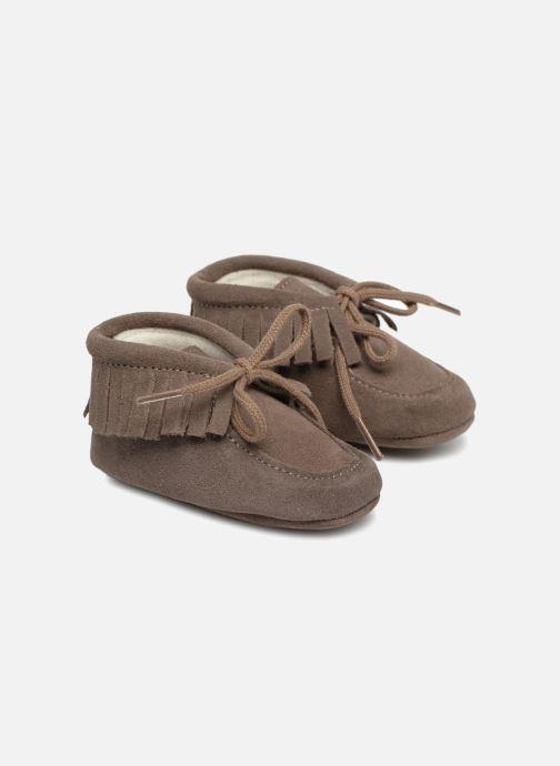 Chaussons Bout'Chou Chaussures à franges Marron vue détail/paire