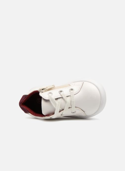 Sneaker Bout'Chou Basket à zip bébé weiß ansicht von links
