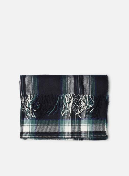 Echarpes et Foulards Monoprix Femme Echarpe imprimée écossais Bleu vue portées chaussures