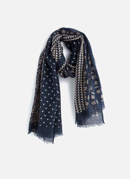 Sjaal Monoprix Femme Etole patchwork Blauw detail