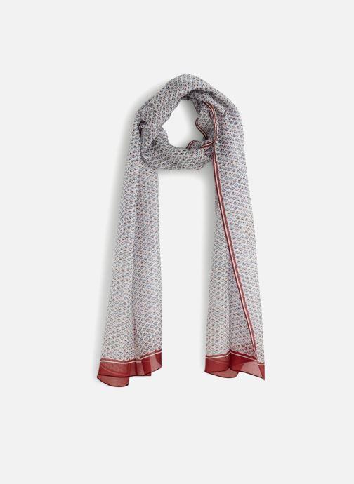 bd30c2829f2 Divers Monoprix Femme Etole en soie petit modèle Rouge vue détail paire