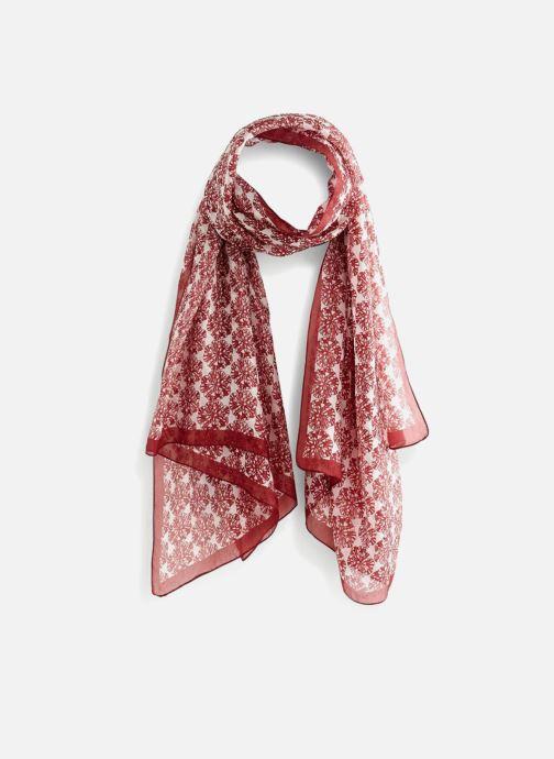 Echarpes et Foulards Monoprix Femme Etole en soie Rouge vue détail paire fe48a073815