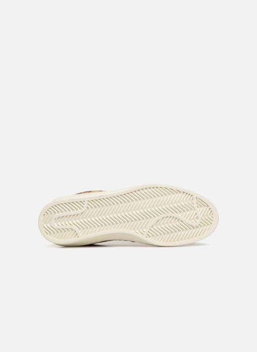 Baskets Monoprix Femme Baskets cuir poils effet léopard Beige vue haut