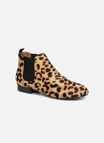 Boots en enkellaarsjes Dames Boots en cuir imprimé léopard