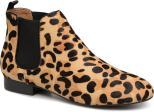 Boots en cuir imprimé léopard
