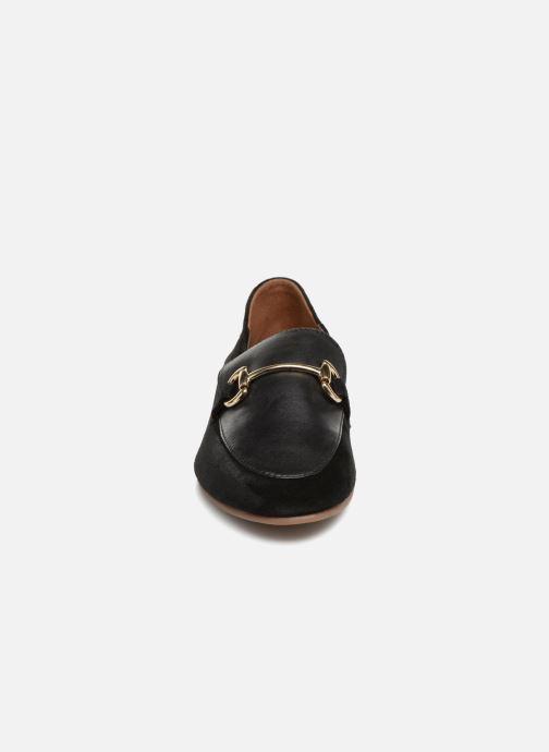 Mocassins Monoprix Femme Mocassins en cuir Noir vue portées chaussures