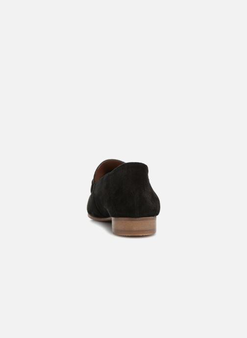Mocassins Monoprix Femme Mocassins en cuir Noir vue droite