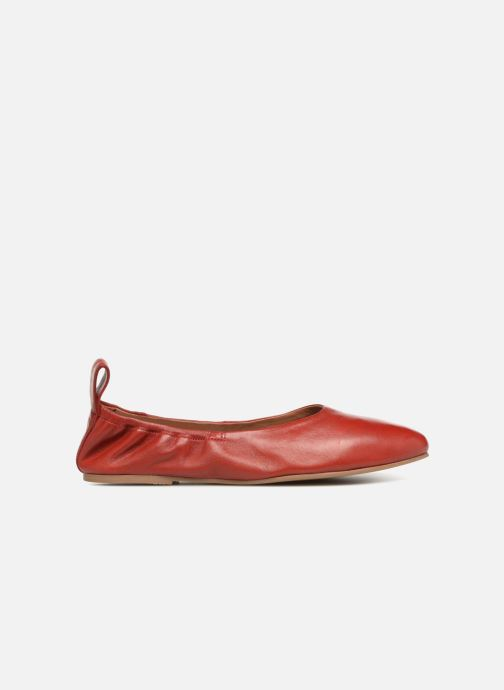 Ballet pumps Monoprix Femme Ballerines en cuir Red back view