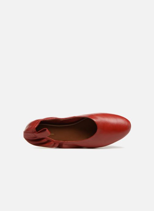 Ballerines Monoprix Femme Ballerines en cuir Rouge vue gauche