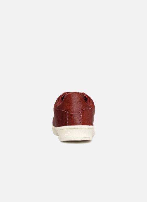 Baskets Monoprix Femme Baskets basses à lacets Rouge vue droite