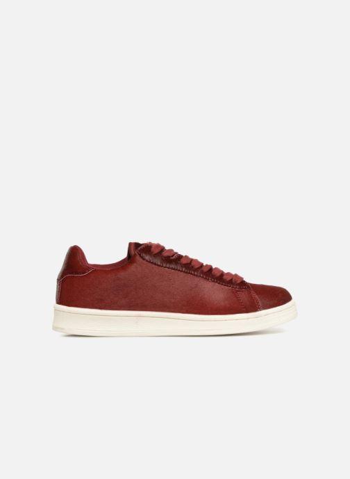 Sneakers Monoprix Femme Baskets basses à lacets Rood achterkant