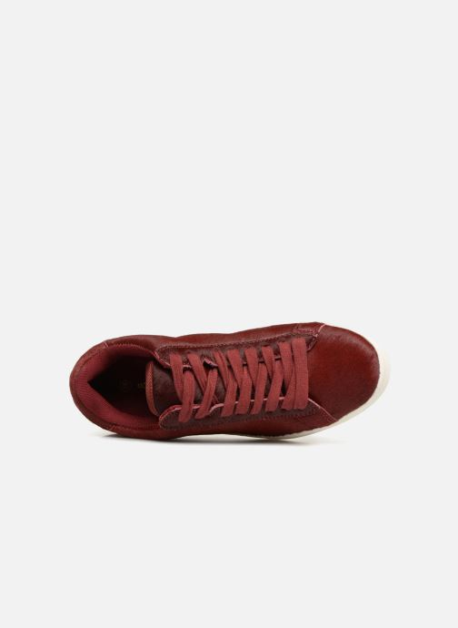 Trainers Monoprix Femme Baskets basses à lacets Red view from the left