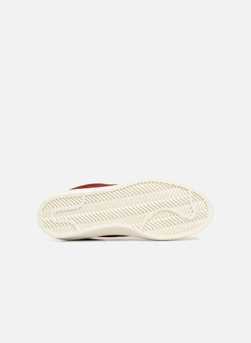 Baskets Monoprix Femme Baskets basses à lacets Rouge vue haut