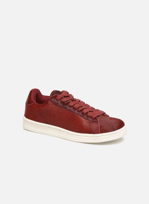 Sneakers Monoprix Femme Baskets basses à lacets Rood detail