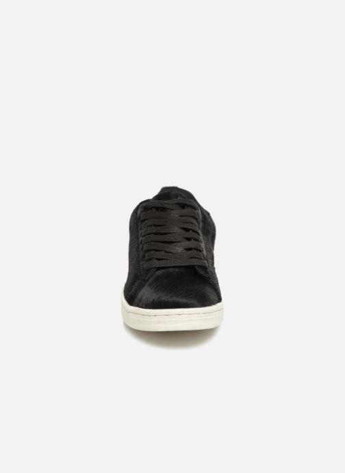 Baskets Monoprix Femme Baskets basses à lacets Noir vue portées chaussures