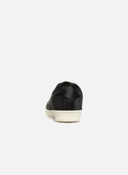 Trainers Monoprix Femme Baskets basses à lacets Black view from the right
