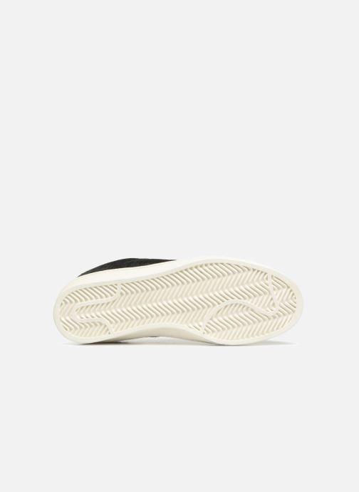 Baskets Monoprix Femme Baskets basses à lacets Noir vue haut