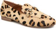 Mocassins en cuir imprimé léopard