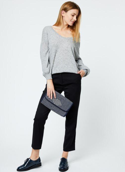 Handtassen Monoprix Femme Sac à rabat Blauw boven