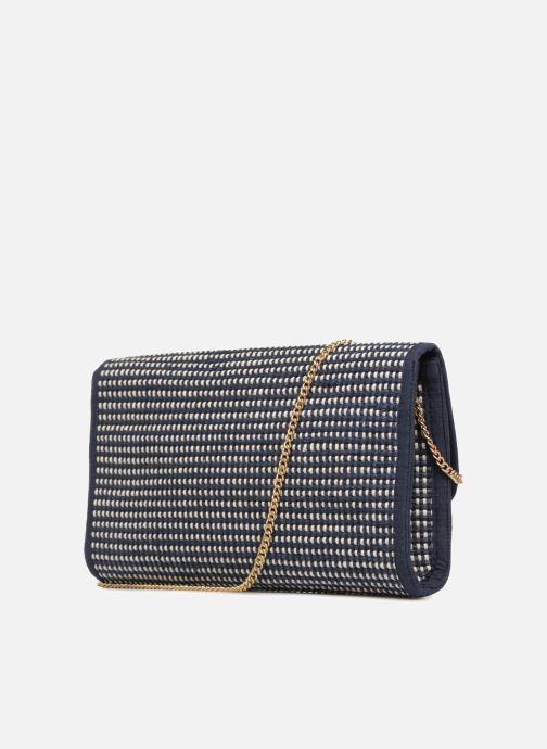 Handtassen Monoprix Femme Sac à rabat Blauw rechts