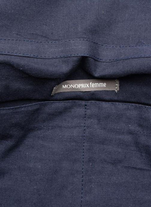 Sacs à main Monoprix Femme Sac à rabat Bleu vue derrière