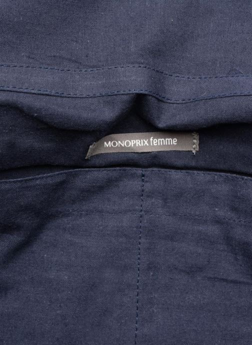 Handtassen Monoprix Femme Sac à rabat Blauw achterkant