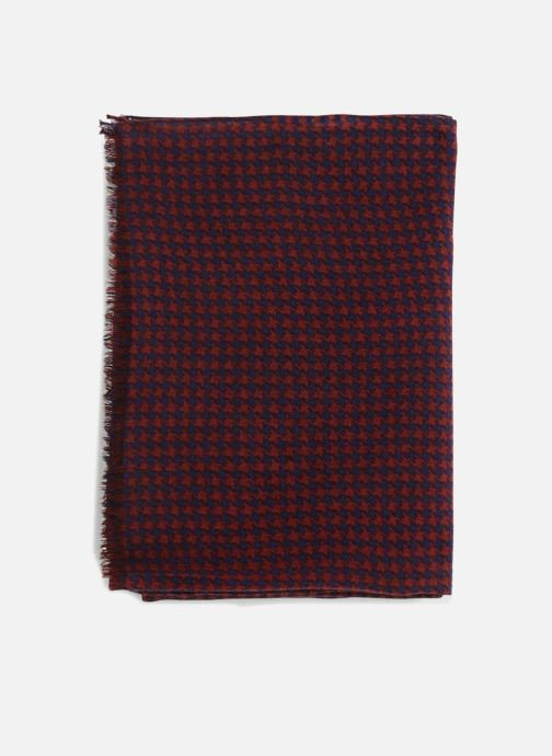 Echarpes et Foulards Monoprix Homme Chèche en coton et laine Rouge vue portées chaussures