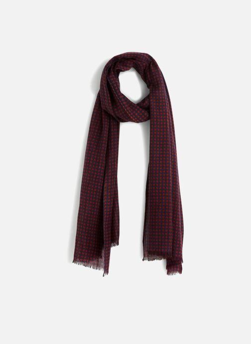 Echarpes et Foulards Monoprix Homme Chèche en coton et laine Rouge vue détail/paire