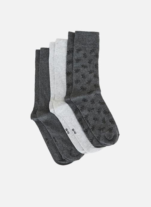 Socken & Strumpfhosen Monoprix Homme Lot de 3 paires de chaussettes vélo blau schuhe getragen