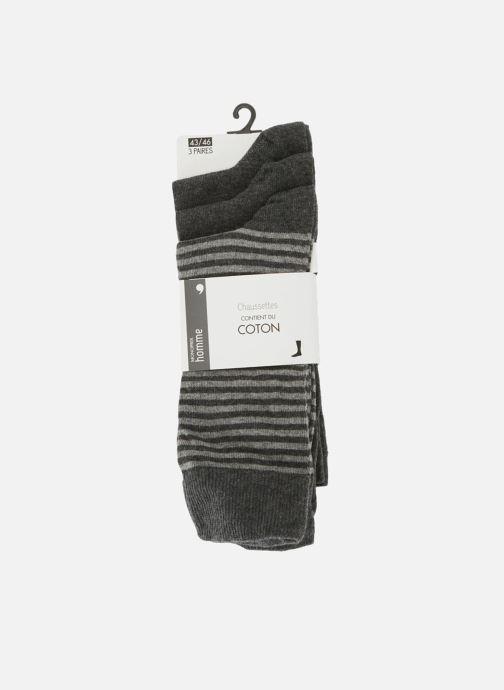 Chaussettes et collants Monoprix Homme Lot de 3 paires de chaussettes rayures Bleu vue détail/paire
