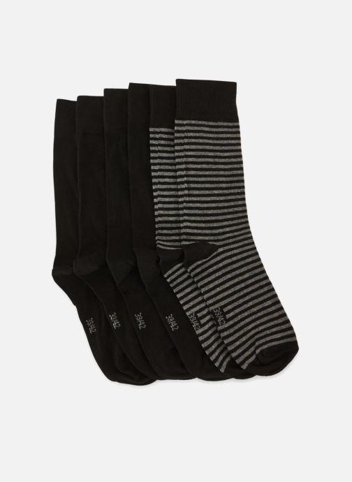 Chaussettes et collants Monoprix Homme Lot de 3 paires de chaussettes rayures Noir vue portées chaussures