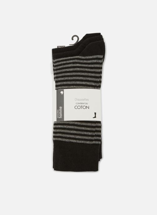 Socken & Strumpfhosen Monoprix Homme Lot de 3 paires de chaussettes rayures schwarz detaillierte ansicht/modell