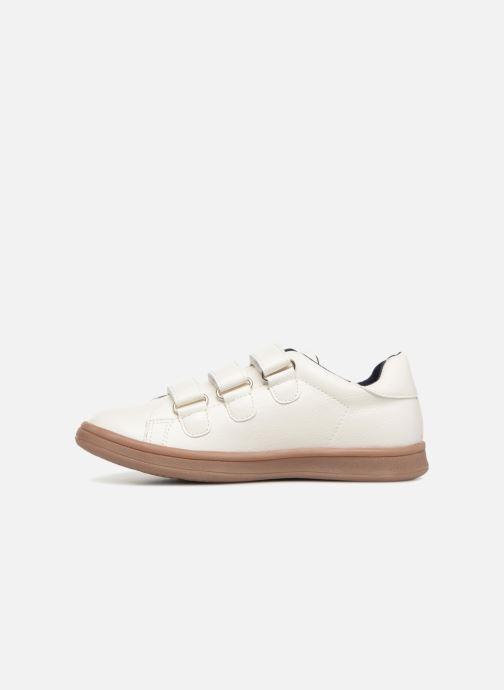 Sneakers Monoprix Kids Baskets basses à scratch Wit voorkant