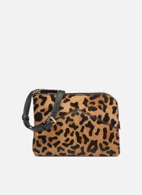 Sac double zip imprimé léopard