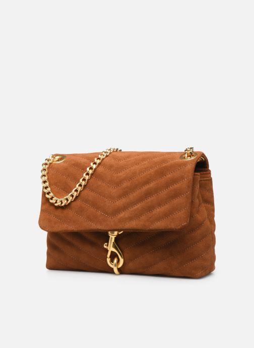 Bolsos de mano Rebecca Minkoff EDIE XBODY Marrón vista del modelo