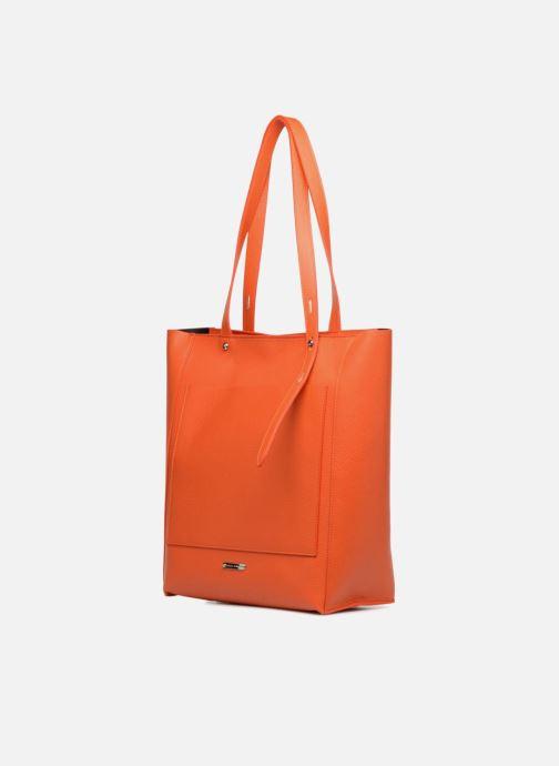 Sacs à main Rebecca Minkoff STELLA N/S TOTE Orange vue portées chaussures