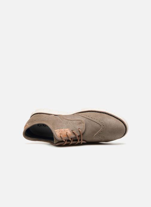 Chaussures à lacets Kickers Kickspot Beige vue gauche
