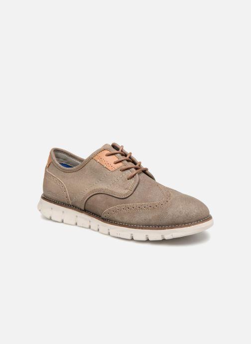 Chaussures à lacets Kickers Kickspot Beige vue détail/paire