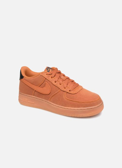 Baskets Nike Air Force 1 Lv8 Style (Gs) Orange vue détail/paire