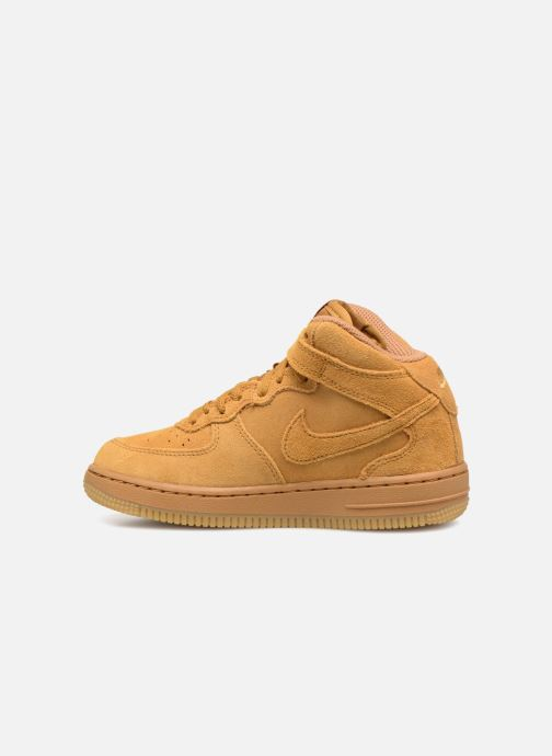 Baskets Nike Air Force 1 Mid LV8 (PS) Marron vue face