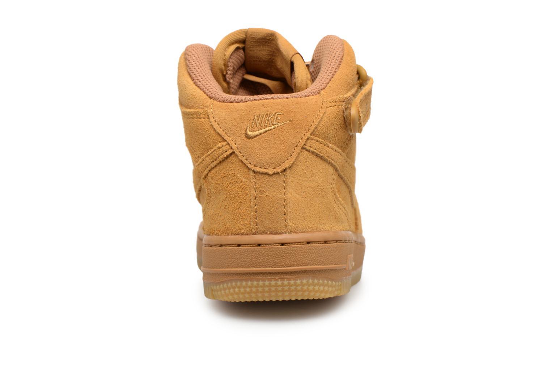 Baskets Nike Air Force 1 Mid LV8 (PS) Marron vue droite