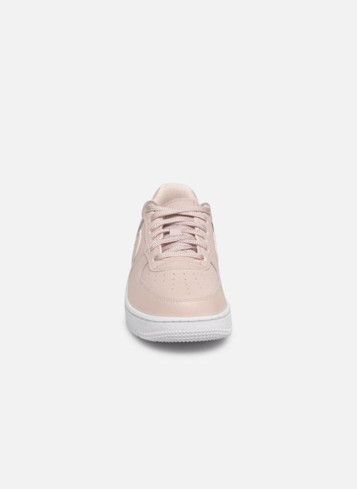 Sneakers Nike Air Force 1 SS (Ps) Rosa modello indossato