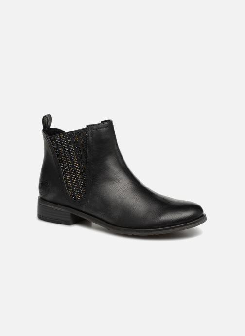 Ankelstøvler Marco Tozzi Rita Sort detaljeret billede af skoene