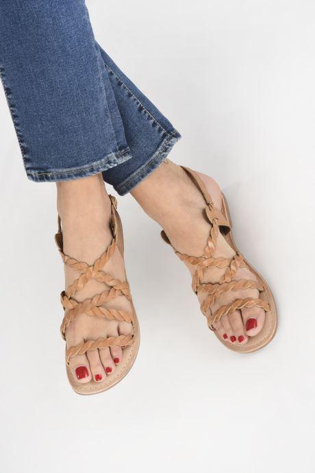 Sandales et nu-pieds I Love Shoes KEBRAID Leather Marron vue bas / vue portée sac